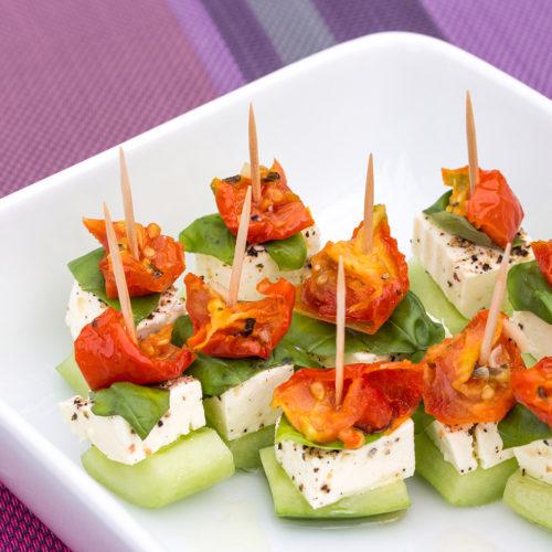 Cucumber Tomato Feta Amuse Bouche Recipe